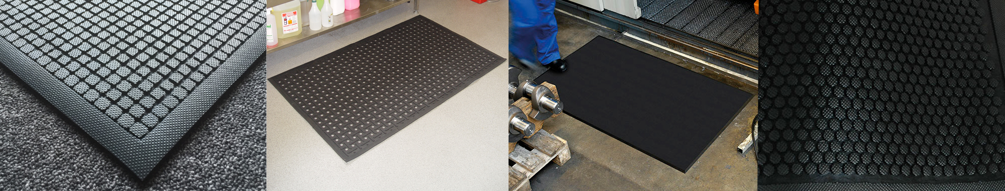 A selection of Principal Hygiene's anti-fatigue mats