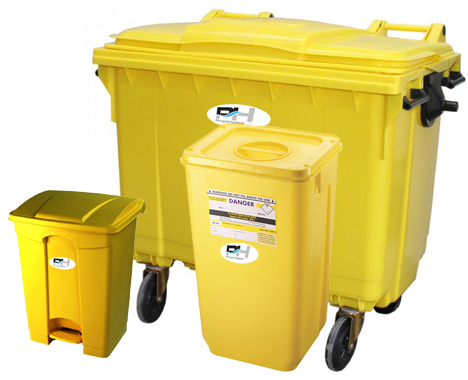 From 45 litre indoor bins to 1100 litre wheelie bins, Principal Hygiene has you covered.